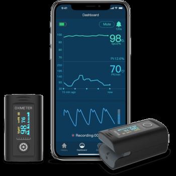 Viatom Oxísmart Bluetooth Fingertip Pulz Oximeter Véroxigénmérő