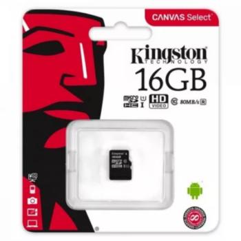 Kingston Memóriakártya 16GB MicroSD Class 10
